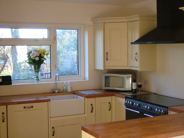 Kitchen design gallery uk - Our Kitchen With A Range Cooker Belfast Sink And Microwave